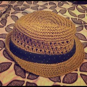 GAP Straw Panama Dot Hat- L/XL